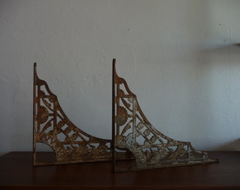 Pair of Victorian Era Cast Iron Brackets