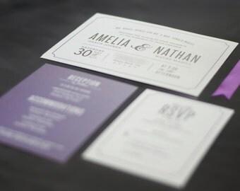 Modern Wedding Invitation - Printable Wedding Invitation - Typography Wedding Invitation
