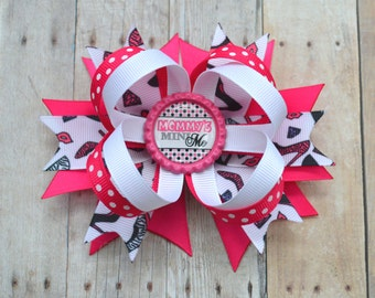 Momma's Mini Me bow, new mommy gift, mommy's mini me hairbow, mama's mini me boutique bow