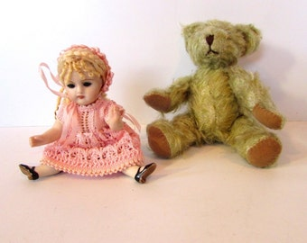 Beautiful Small G.E.M.S Doll With Fully Articulated Teddy  /MEMsArtShop.