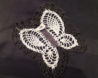 Vintage Crochet Doily Butterfly