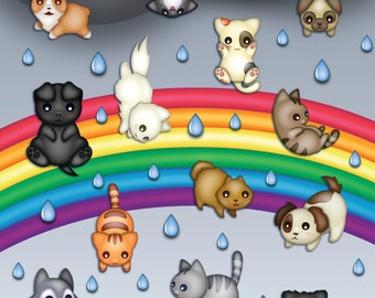 Raining Cats & Dogs Print