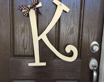 Wooden Letter Door Hanger