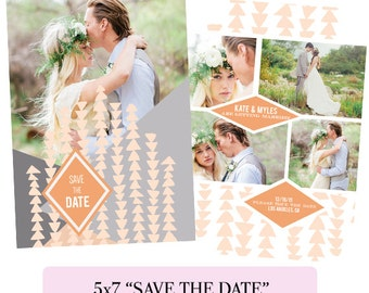 Save the Date Photoshop Template-Digital Download