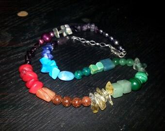 Rainbow Stone Necklace