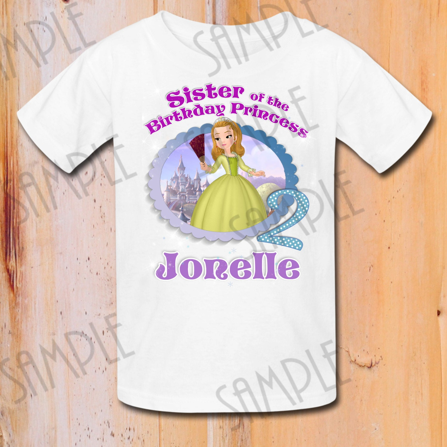 Design your own t-shirt iron on transfer - T Shirt Disney Sofia The First Iron On Transfer Printable Sister Of Birthday Girl Digital Download Customizable Sofia Birthday Party Shirt