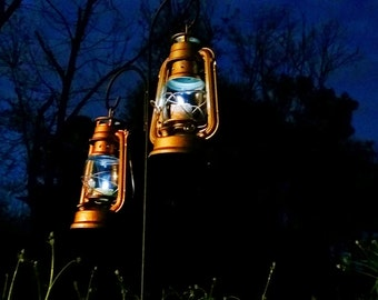 Set of 16 Wedding Lanterns, Small Lanterns with LED Tealights, Rustic Wedding Centerpieces, Outdoor Reception Candle Lantern Aisle Lighting