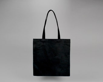 The Standard Tote // Black WAXED Canvas Tote Bag