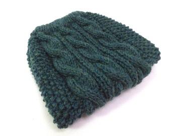 Jade Heather Wool Dog Sweater, merino wool, large breed, cable knit sweater, winter sweater, fall sweater