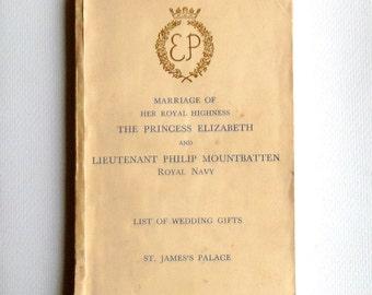 List Of Wedding Gifts Princess Elizabeth : Princess Elizabeth Wedding Book, Royal Wedding 1947, Wedding Gift List ...