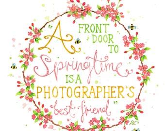 "Watercolour Springtime Quote // 8"" x 10"" Original Watercolour Painting"