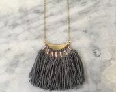 No. 1 // Fiber Necklace // Tassel Necklace