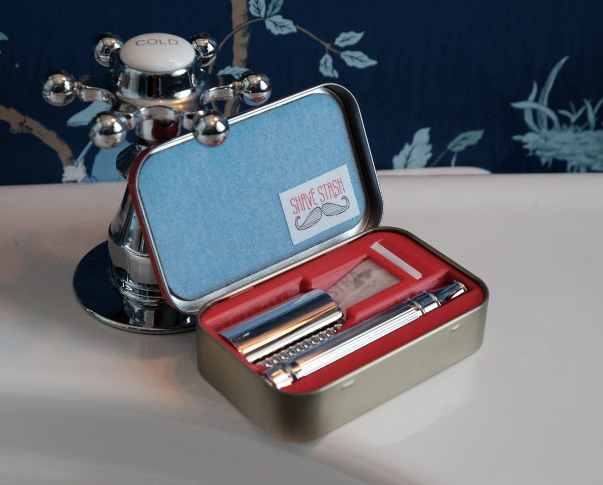 Parker A1R 4 Piece Travel DE Safety Razor Set with Leather ... |Razor Travel Case