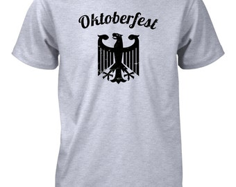 Oktoberfest German Deutschland Coat of Arms Distressed T-Shirt for Men