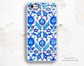 iPhone 6 Case Tile Flower -  iPhone 5C Case, iPhone 5 / 5S Case, iPhone 4 Case, iPhone 6 Plus Case, Floral iPhone 6 Case Blue Tile :0886