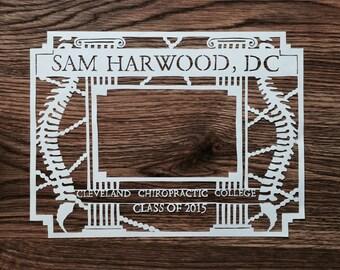 Graduation Papercut - Custom - Personalized Gift - Handcut Paper Illustration