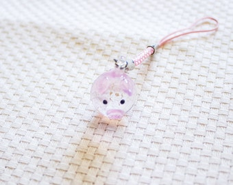 Glass Charm || Pink Piggy