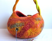 MADE TO ORDER* Yarn bowl made from wet felted wool. Great gift for a knitter. Knitting on the go! You choose the color!