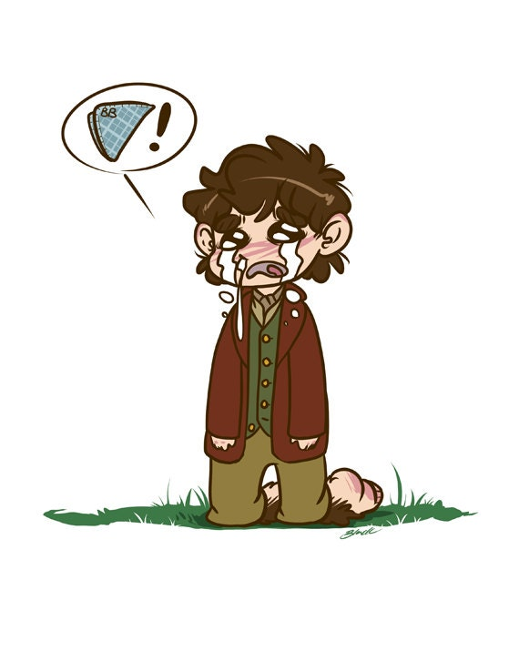Bilbo Baggins Handkerchief The Hobbit Fanart Print