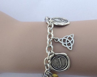 Outlander Jewelry, Themed Charm Bracelet, Christmas Gift for Her