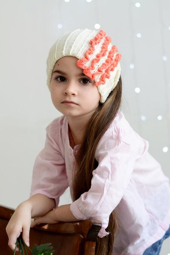 White toddler girl knit headband, Headwrap, Knit headband, Spring gift, Boho kids headband