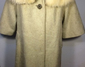 FREE  SHIPPING  Lilli Ann Coat mohair & Fox Fur