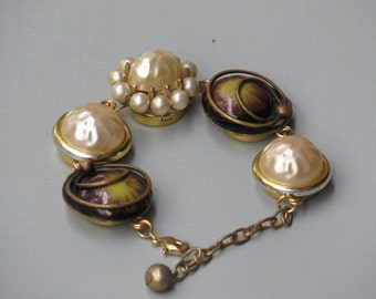 "Vintage Repurposed Earrings Named ""Precious Pearls"""