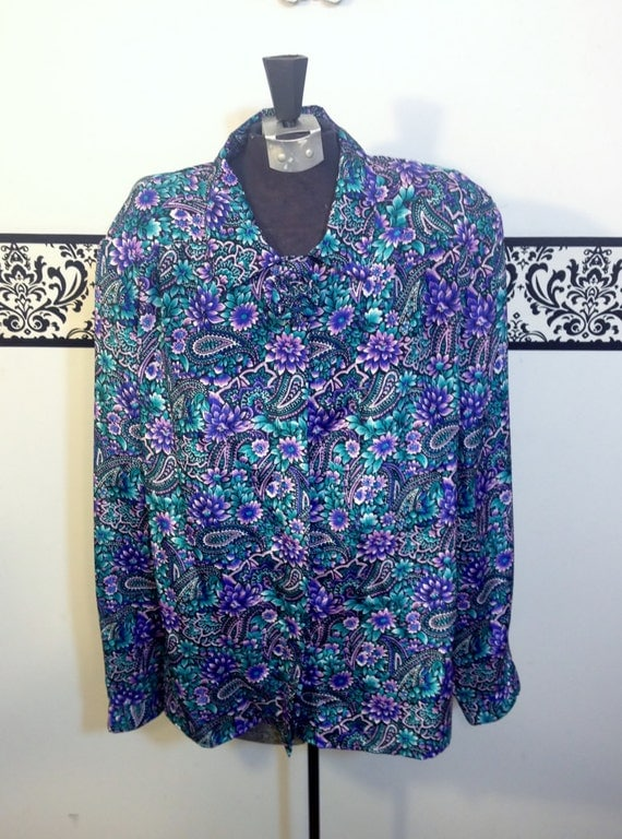 Teal Blouse Plus Size 34
