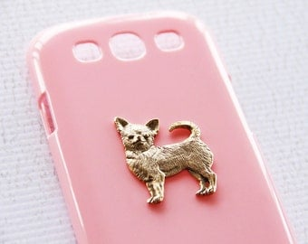 Chihuahua Gold Pink iPhone 6s Plus  High Shine Plastic Cell Phone Case iPhone 6 Plus Case iPhone 7 Case iPhone 7 Plus Case
