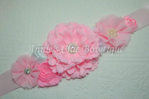 maternity sash girl pink baby shower sash its a girl sash basket
