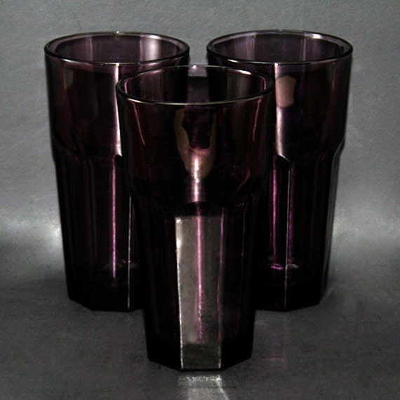 set of 3 libbey duratuff gibraltar 16 oz coolers violet deep. Black Bedroom Furniture Sets. Home Design Ideas