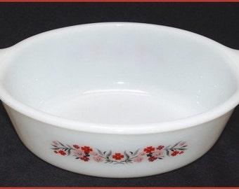 Fire King Primrose Pattern Baking Dish - Casserole - Vintage Bakeware 1.5 QT Size