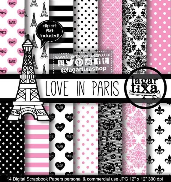 Papel digital fondos paris francia torre eiffel corazones - Papel de pared blanco y negro ...