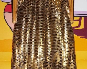 Black ROSES Deco Whiting & Davis BABY MESH Purse~1920s Vintage Flapper Enameled Bag w/ Lining