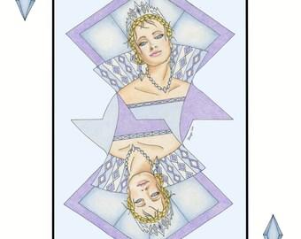 Queen of Diamonds Print
