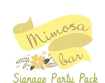 Mimosa Bar Signage Party Pack