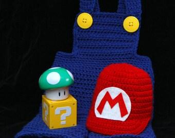 Baby Mario Photo Prop set