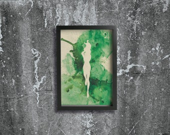 SAILOR JUPITER poster - Inspired by the Sailor Moon Anime series. Watercolor Giclée Print.