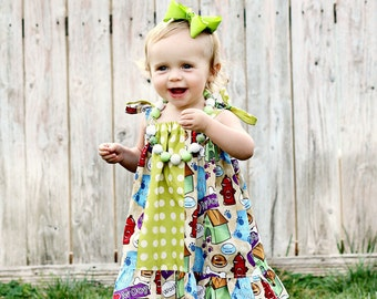 Miley  Top/ Tunik or Dress sizes 6months to - 12 years Pdf Pattern