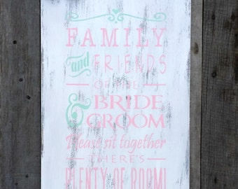 Rustic Wedding No Seating Plan Sign, Distressed Wedding Sign, Seating Sign, Open Seating Sign, Wedding Reception Sign
