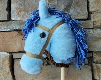 Baby Blue Stick Pony - Hobby Horse - Stick Horse