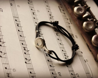 Recycled Flute Key Adjustable Bracelet