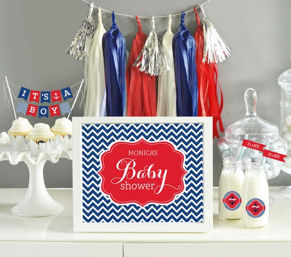 ahoy its a boy decorations boy baby shower themes nautical baby shower