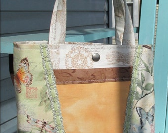 Spring Dragonflies Bag with 4 pockets