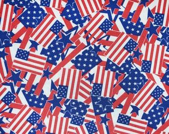 American flags patriotic dog bandana slides over the collar