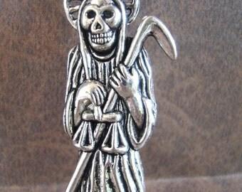 Santa Muerte Pendant,Jewelry Pendant,