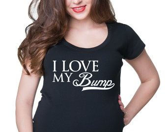 Maternity T-Shirt I Love My Bump Pregnancy Top Gift For Pregnant Woman Tee Shirt