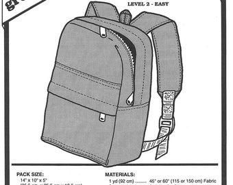 Sewing Pattern - Book Bag Pattern, Travel Bag Pattern, Day Pack Pattern, Green Pepper Patterns - GP 211