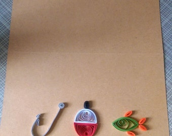 Quilled Nautical Card - Customize the front and inside!