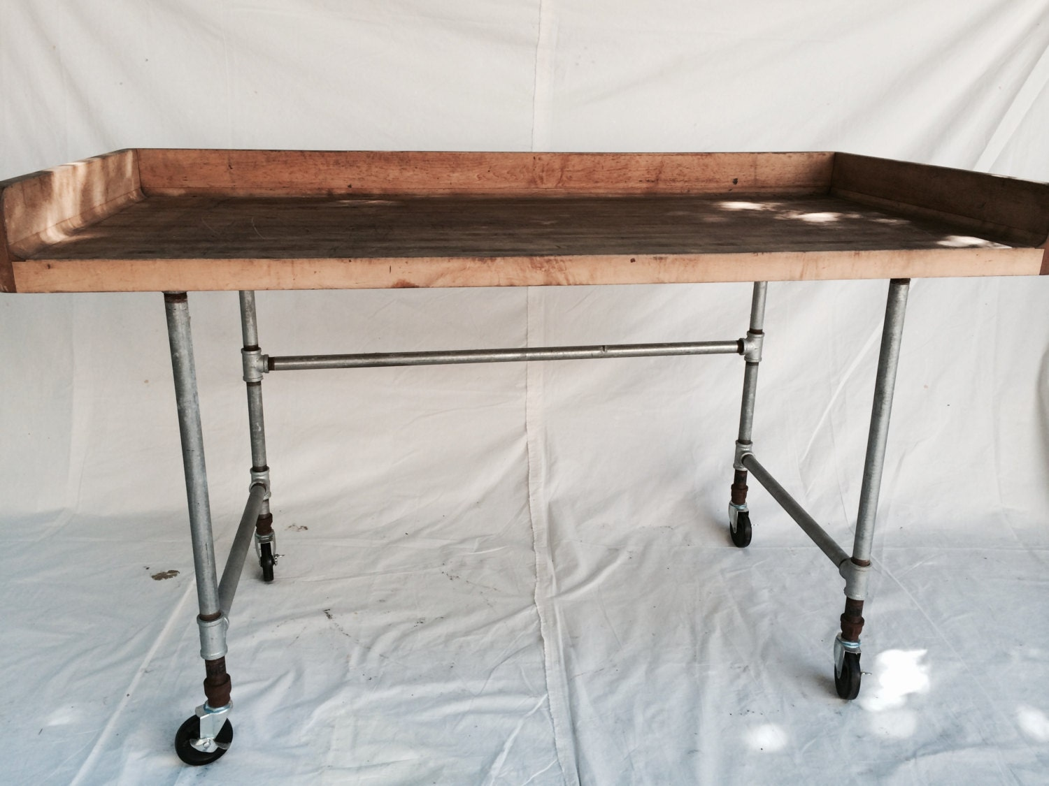 industrial butcherr block table kitchen kitchen prep table zoom